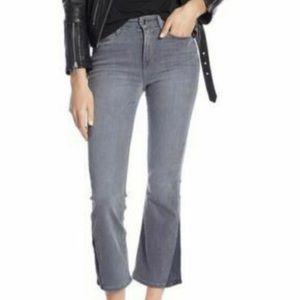 Good American Grey Bootcut Crop Jeans